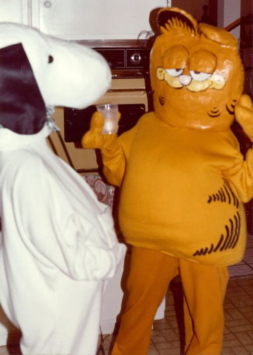 Cursed image Snoopy Garfield