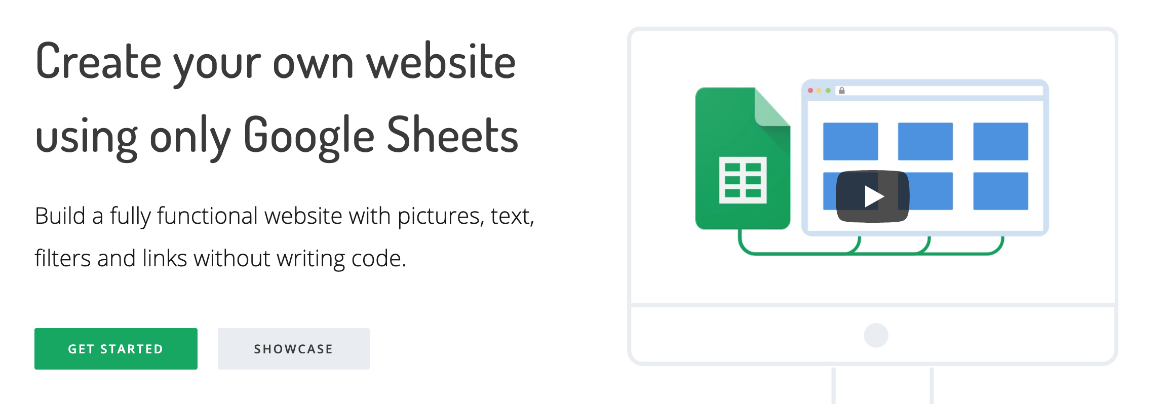 Sheet2Site - create your website with Google Sheets