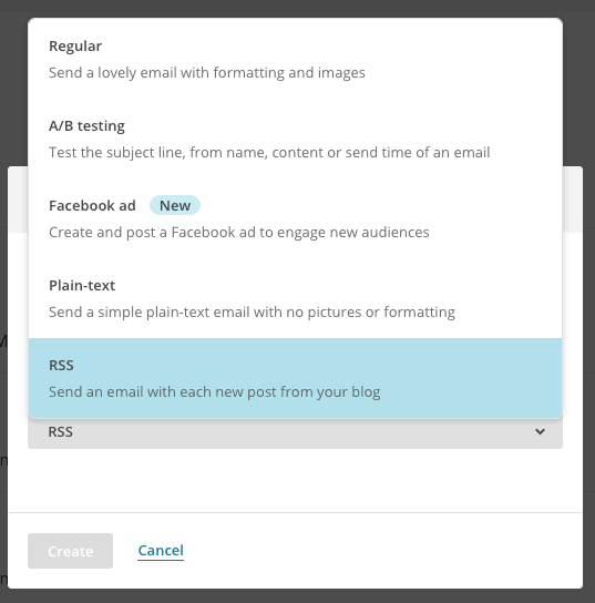 create a newsletter with your latest posts