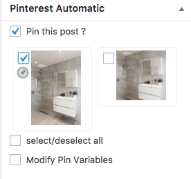 automatically pin content