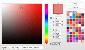 colour picker e77d74
