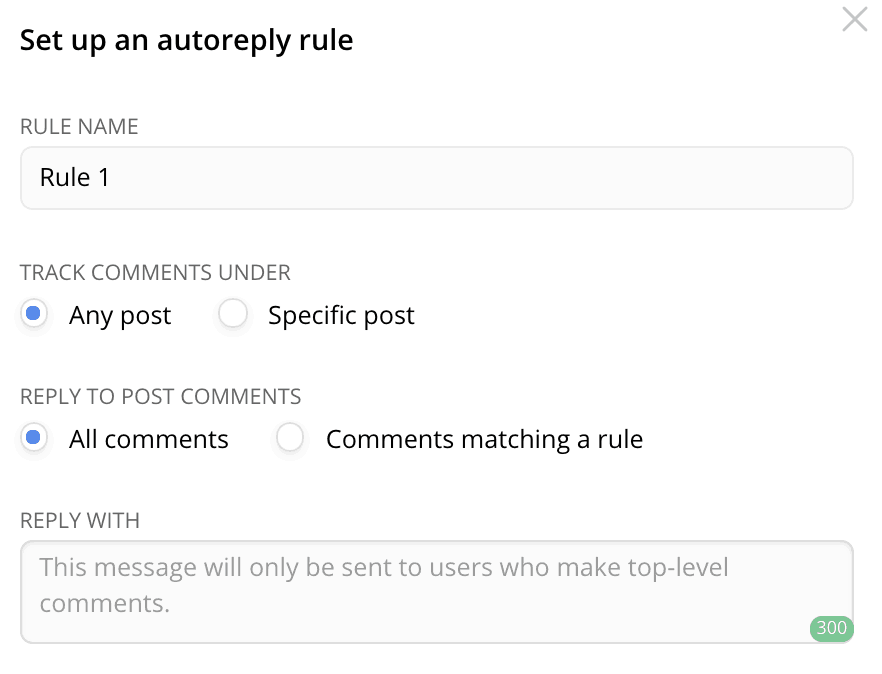 How to send an automatic reply to the users commenting your