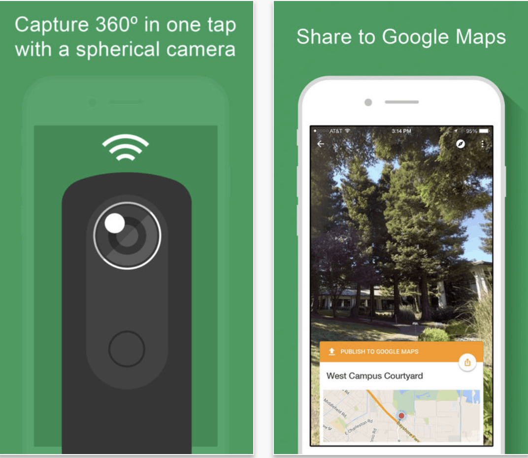 Google Street View 360 photos Ricoh Theta S