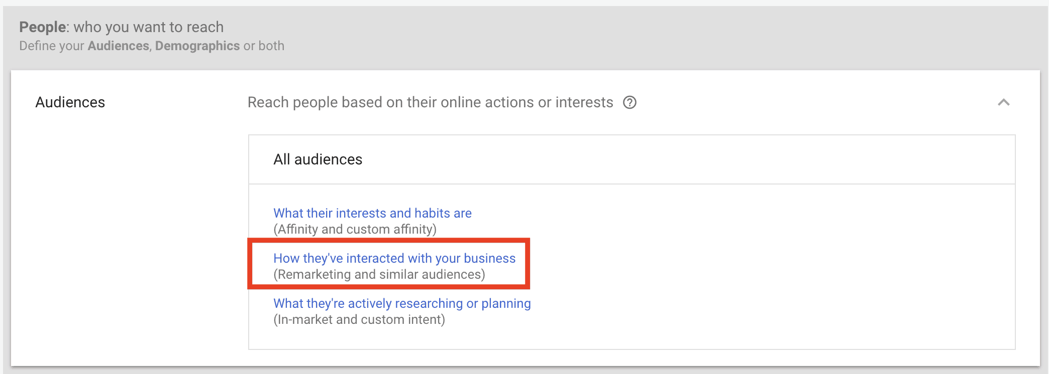 custom audience Adwords remarketing