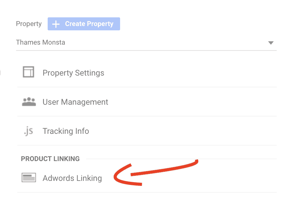 link google analytics with adwords