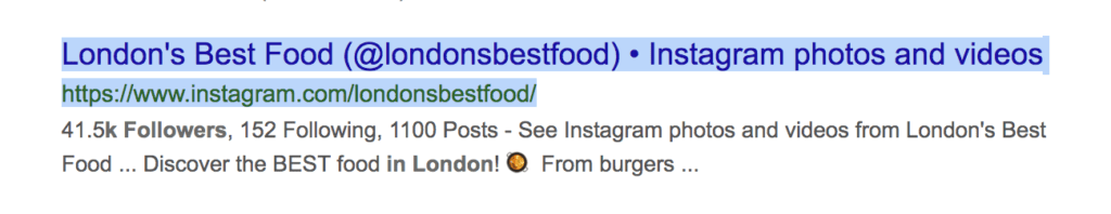 find instagram users in London with at least 1000 followers