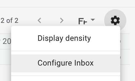 sanity in gmail