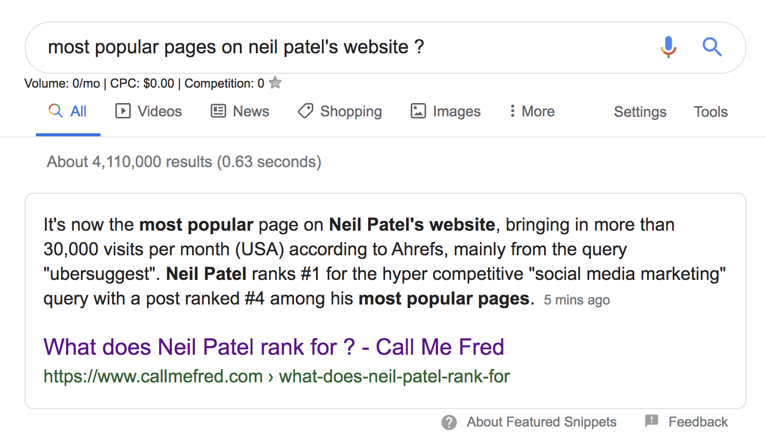 most popular pages neilpatel.com